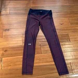 Under Armour navy blue and red leggings